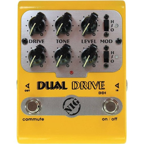 Pedal Para Guitarra NIG Dual Drive DD1 Overdrive Com LED De Status