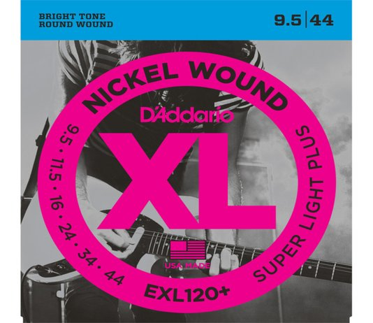 Encordoamento de Guitarra D'Addario 009.5 EXL120 Nickel Wound Super Light Plus
