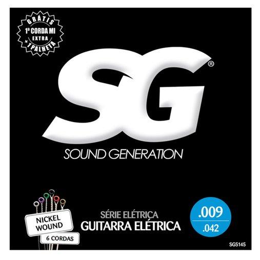 Encordoamento De Guitarra SG Série Elétrica 0.11 Com Bolinha