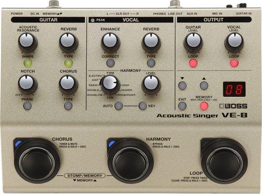 Pedal Boss Ve 8 Processador Vocal Ve8 Original C/ Fonte