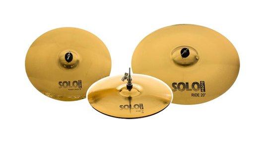 """Set de Pratos Orion Cymbals Solo Pro10 SP90 com 14"""" 16"""" 20"""" comBag Estofada - Liga B10"""