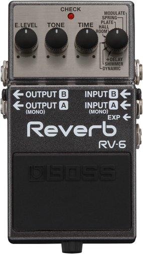 Pedal Para Guitarra Boss RV 6 Reverb Com Shimmer