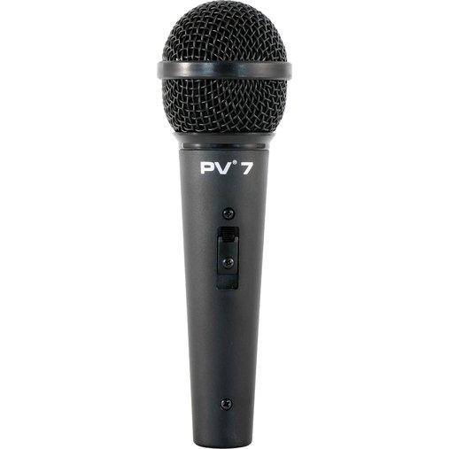 Microfone Pevaey  Dinâmico De Mão Com Fio Pevaey PV-7 Acompanha Cabo XLR