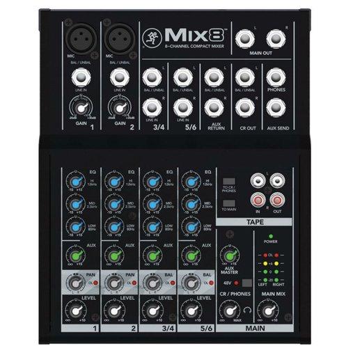 Mesa De Som Mackie MIX8 Compacto De Alto Headroom Com 8 Canais