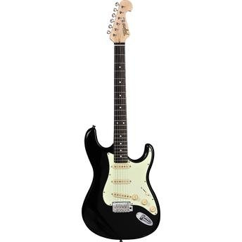 Guitarra Tagima Stratocaster Preta T-635 Classic New Escala Escura Escudo Mint Green