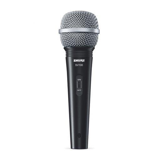 Microfone Shure  Dinâmico De Mão Com Fio SV100 Acompanha Cabo XLR