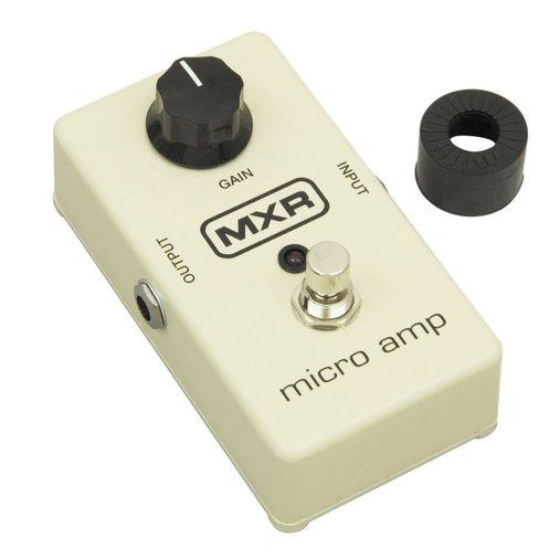 Pedal Para Guitarra Mxr Dunlop Microp Amp Booster M133 Com Led De Status Vermelho