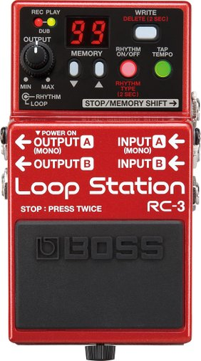 Pedal Para Guitarra Boss RC 3 Loop Station 99 memórias