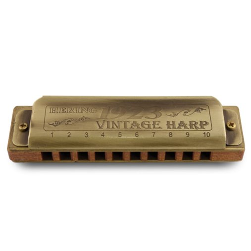 Gaita De Boca Harmônica Diatônica Hering Vintage Harp Em DÓ 1923C Com Estojo