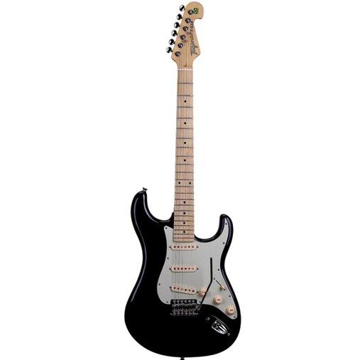 Guitarra Tagima Brasil Stratocaster T-635 Preta com Escudo Mint-Green