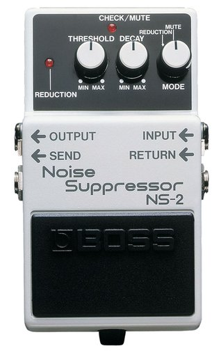 Pedal Para Guitarra Boss Noise Supressor NS 2 Controles De Threshold e Decay