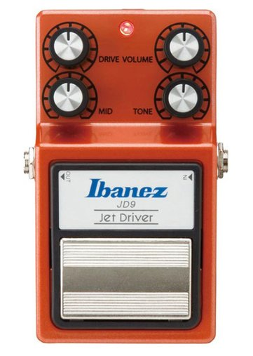 Pedal Para Guitarra Ibanez JD 9 Jet Drive Laranja Driver Distortion Com True Bypass