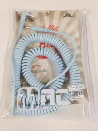 Cabo Guitarra Mac Espiral 30 Ft 9,15 M Azul Claro