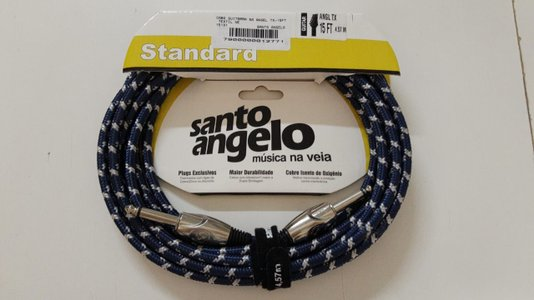 Cabo Instrumento Santo Angelo Textil 4,57 M Cores Plug Reto