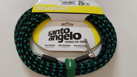 Cabo Instrumento Santo Angelo Textil 7,6 M Cores Plug 90 G