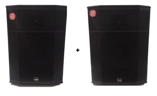 Caixas Som Pro 750 Leacs Ativa 350w Rms + Passiva 300w Rms