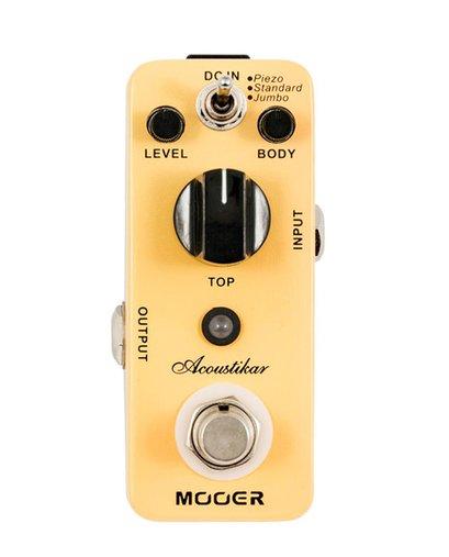 pedal Para Guitarra Mooer Acosutikar Micro Series Com 3 Modos Piezo, Standard E Jumbo