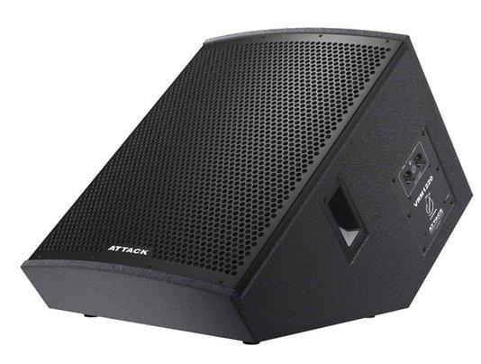 """Caixa Acústica Retorno Attack Passiva VRM 1220 Preto 1x Alto-falante de 12"""" + 1x Driver Titanium;"""