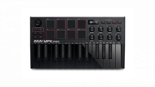 Controlador Midi Akai Mpk3 Mini Gen 3 Mk3 Black 25 Teclas