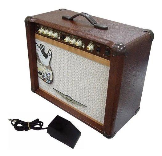 Cubo Guitarra Oneal Ocg 200 N 60w Rms Marron C/ Foot E Nf