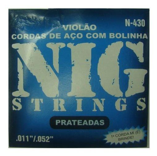 Encordoamento Violão Aço 011 / 052 Nig N430 C/ Bolinha E Nf
