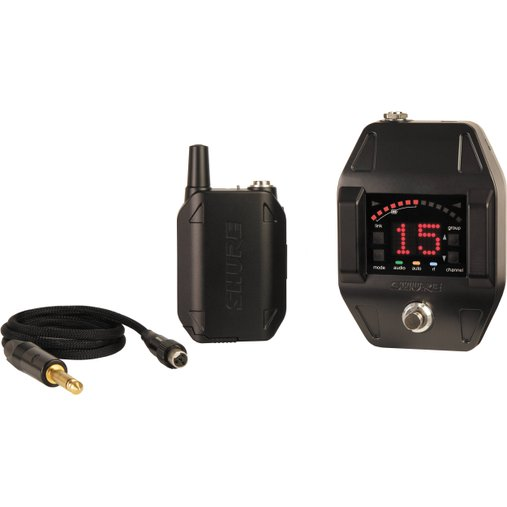 Transmissor Body Pack Shure Para Instrumentos GLXD16 BR Cabo + Receptor + Pedal