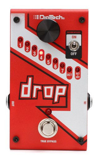 Pedal para Guitarra Digitech The Drop Tune Pitch Shifter com Fonte