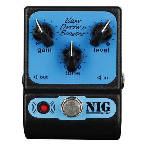 Pedal de Guitarra NIG Overdrive Easy Drive' n Booster