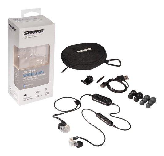 Fone De Ouvido Shure In Ear Se215 Clear  Com Bluetooth
