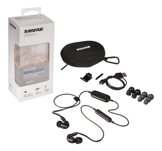 Fone De Ouvido Shure  In Ear Se215 K Preto Com Bluetooth