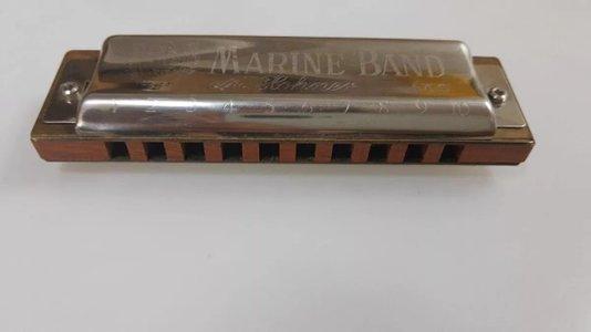 Gaita De Boca Hohner Marine Band 1896 20 Em B (si) Outlet Nf