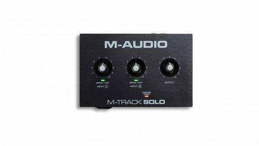 Interface De Áudio M-audio M-track Solo Usb