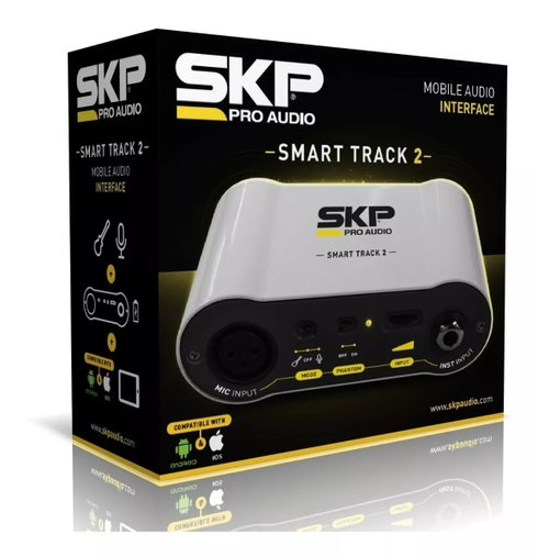 Interface Placa Áudio Móvel Skp Smart Track 2  Ios E Android
