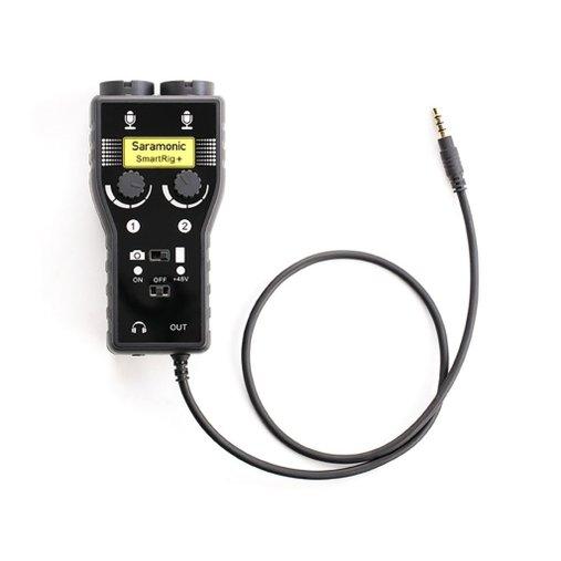 Interface Saramonic Smartrig P/ Celular E Câmera 2 Canais