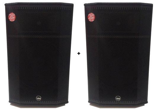 Kit 2 Caixas De Som Ativa Leacs Pro750 350w Rms