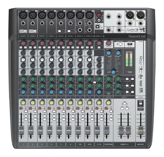 Mesa De Som Soundcraft Signature 12 Mixer Analógico - C/nf