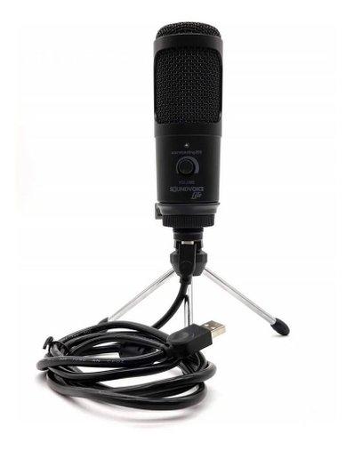 Microfone Condensador Soundvoice Usb Soundcasting 1200