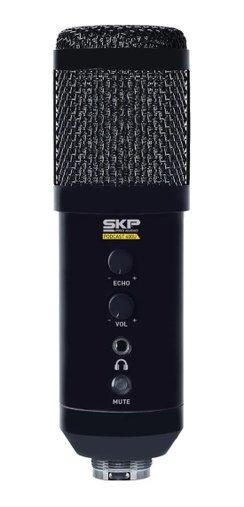 Microfone Profissional Usb Para Estúdio Skp Podcast 400u Nf
