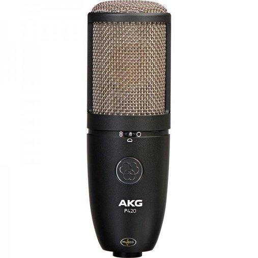 Microfone Studio Gravação Akg P420 Cardioide com Case