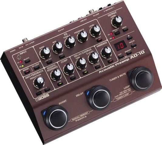 Pedal Boss Pré Amplificador De Violão Ad 10 Acoustic Preamp