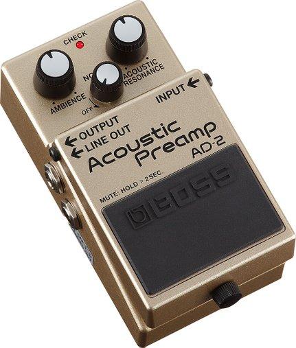 Pedal De Efeito Boss Ad-2 Acoustic Preamp P/ Violão Ad2