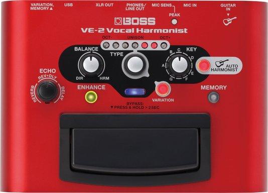 Pedal Efeito Boss Ve-2 Processador De Voz + Fonte