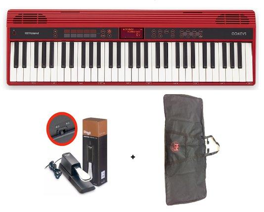 Teclado Roland Go Keys 61k Loop + Capa + Pedal Sustain
