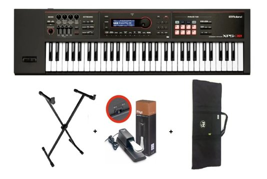 Teclado Sintetizador Roland Xps 30 + Estante + Capa + Pedal