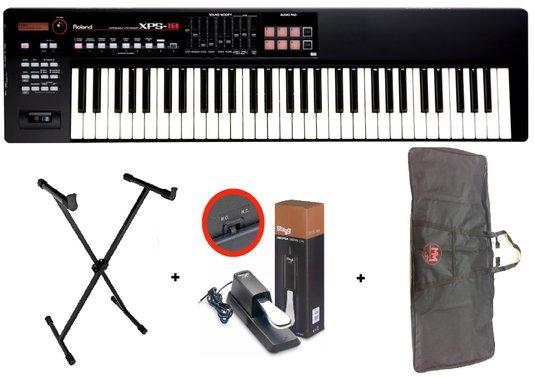 Teclado Sintetizador Xps10 Roland + Capa + Estante + Pedal