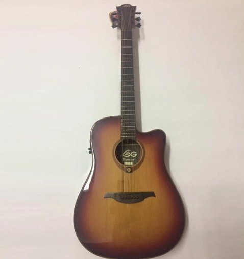 Violão Lag Tramontane Dreadnought T100dce Sunburst - Outlet