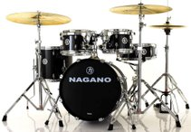 Bateria Nagano Garage Gig Ebony Sparkle Bumbo 18''