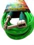 Cabo Para Intrumentos Mac Cristal Colors 7 Metros Verde Com Plug Em 90º graus