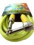 Cabo Para Intrumentos Mac Cristal Colors 5 Metros Amarelo Com Plug Em 90º graus