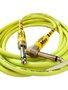 Cabo Para Intrumentos Mac Cristal Colors 7 Metros Amarelo Com Plug Em 90º graus